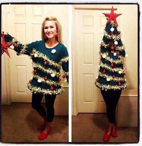 Woman Christmas Tree