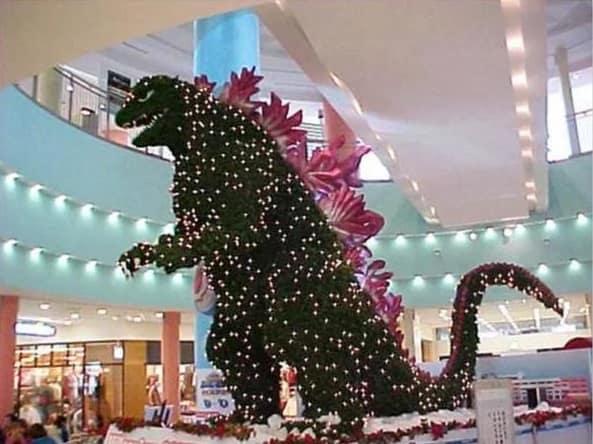 dinosaur christmas tree