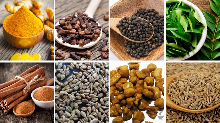Indian Herbs Spices Healing Benefits
