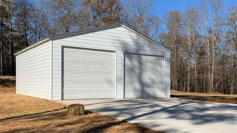 Galvanized Steel Metal Garage